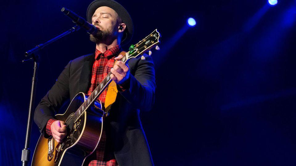 US-Sänger Justin Timberlake während eines Auftritts in Austin, Texas.