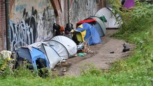 Zelte von Obdachlosen im Berliner Tiergarten