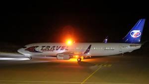 In diesem Flugzeug einer tschechischen Fluglinie saßen wohl Afghanen, die vom Flughafen Leipzig/Halle aus abgeschoben werden sollten