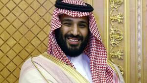 Porträt von Mohammed bin Salman, Kronprinz von Saudi-Arabien