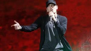 Eminem gewinnt Prozess gegen National Party: Der Rapper während eines Auftritts im Yankee Stadion in New York