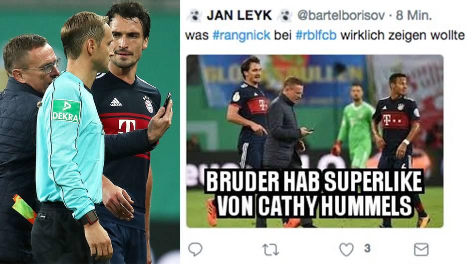 Ralf Rangnick: So witzig reagiert das Netz auf den Handy-Platzsturm des RB-Sportdirektors