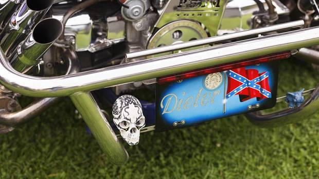Auch bei seinem Trike legt Dieter Wert auf Details