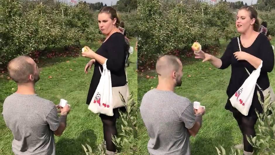 Schmerzhafte Verlobung: Dieser Heiratsantrag geht buchstäblich ins Auge
