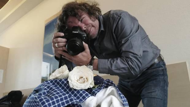 Klaus Becker fotografiert ein Sternenkind