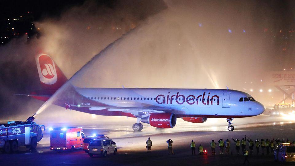 """Air Berlin sagt """"Tschüss"""" - ein Abschied in Bildern"""