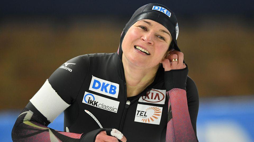 Eisschnelllauf: 45-jährige Pechstein erkämpft über 5000 Meter 32. Meister-Titel