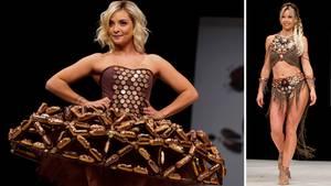 Paris: Kleider aus Schokolade: Wenn nicht nur die Models zum Anbeißen sind