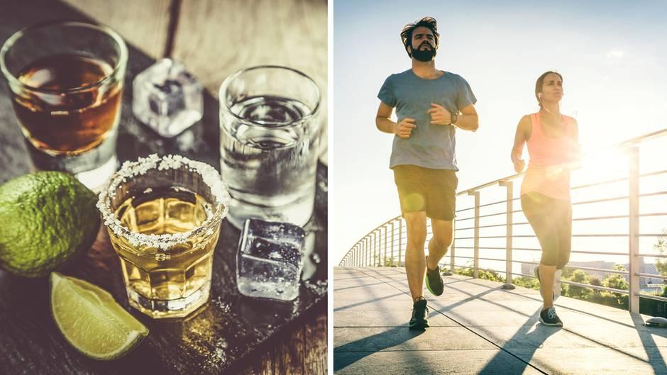 Mythen rund ums Genussmittel: Kann man Alkohol durch Bewegung ausschwitzen?