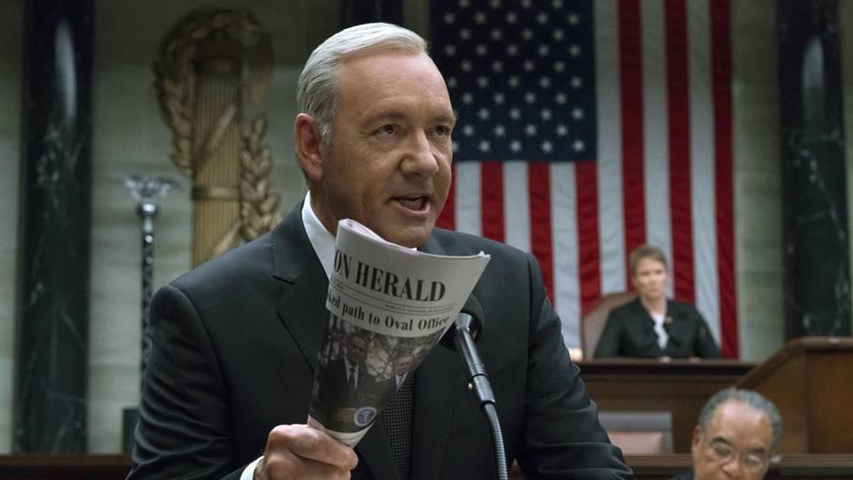 """Kevin Spacey als Frank Underwood in der Netflix-Serie """"House of Cards"""". Nach der sechsten Staffel ist Schluss."""