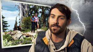 """Während einer Wanderung auf dem Kalifornischen """"Pacific Crest"""" wurde Mathias Steinhuber von einem Blitz getroffen."""