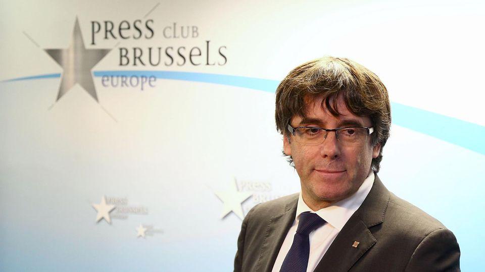 Carles Puigdemont am 31.10.2017 in Brüssel
