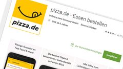 """Pizza.de  Burger King, Domino's, Call a Pizza, Tele Pizza - die App vereint (nicht nur laut eigener Produktbeschreibung) tatsächlich die ganz Großen in ihrem Repertoire. Was die Service-Qualität angeht, belegte Pizza.de im Jahr 2016 den 1. Platz im """"Testbild""""-Ranking."""
