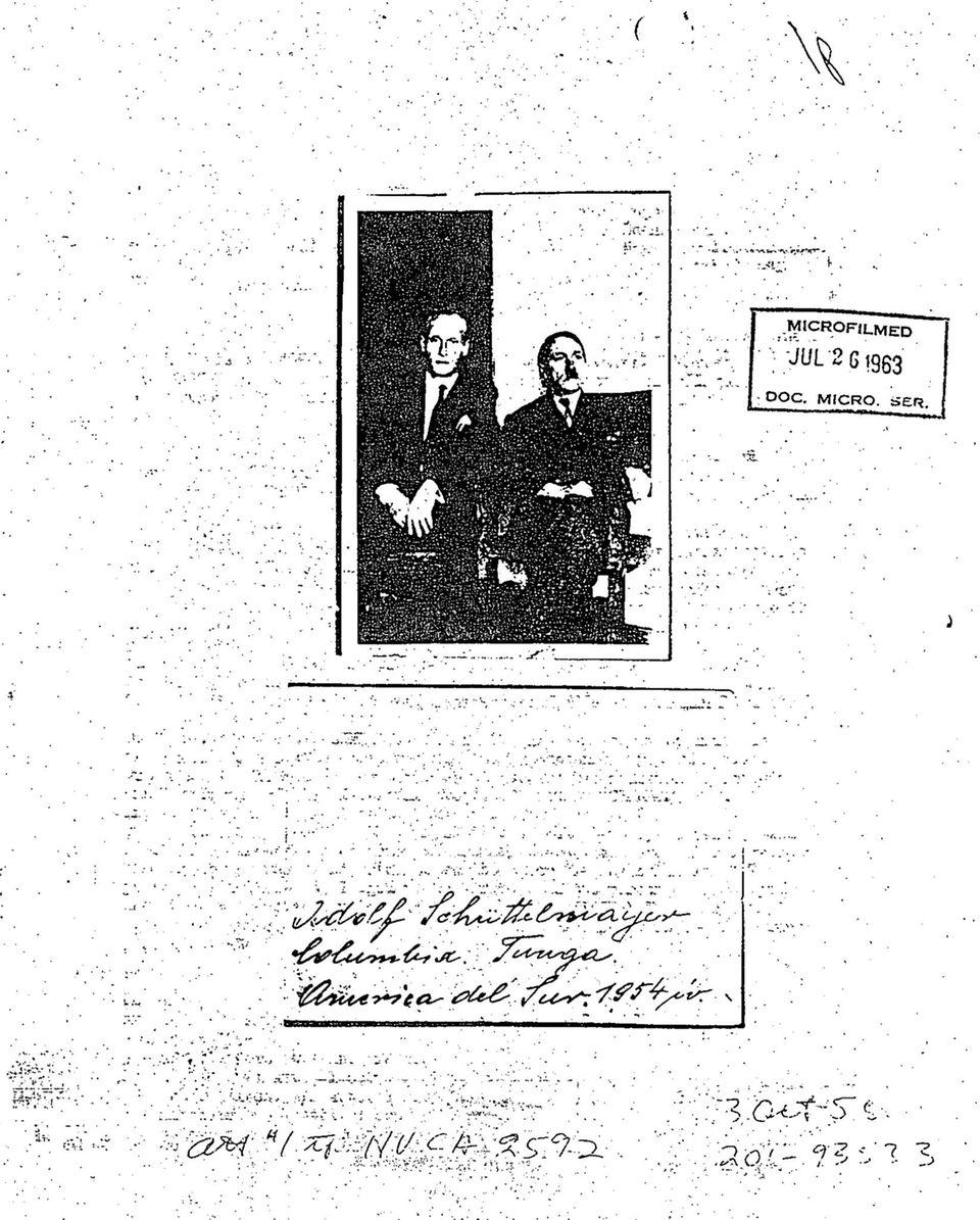 US-Geheimdienst: CIA-Akte: SS-Mann berichtete Agenten, Hitler habe als Adolf Schüttelmayer in Kolumbien gelebt