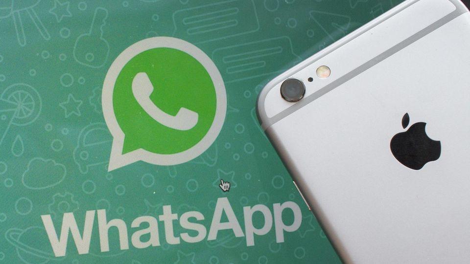 WhatsApp Symbol und iphone
