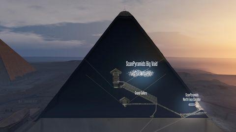 Der riesige Hohlraum in der Cheops-Pyramide ist nach Ansicht der Forscherrund 4500 Jahre lang völlig unberührt geblieben