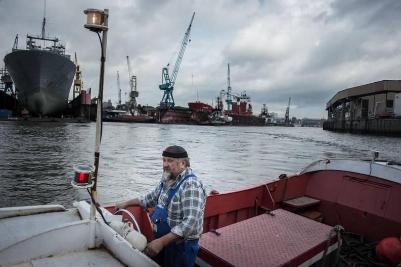 Kay Grabowski ist Werftarbeiter auf der Flint Werft