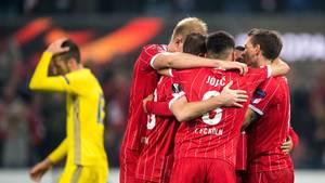 Von einer Krise war dem 1. FC Köln im Europa-League-Spiel gegenBATE Borissow nun wirklich nichts zu spüren