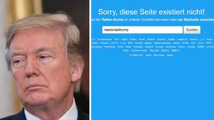 US-Präsident Donald Trump musste kurzzeitig aufs Twittern verzichten