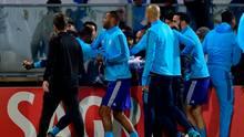 Die verstörenden Szenen ereigneten sich bereits vor Anpfiff der Partie in der Europa League
