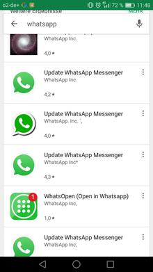 Whatsapp Fakes im Screenshot