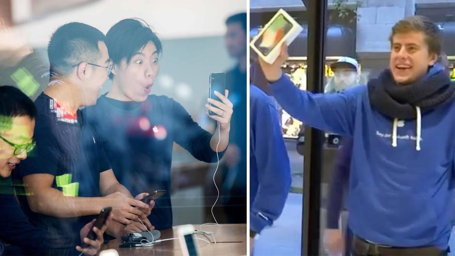 iPhone X: Apple-Fans im kollektiven Freudentaumel beim internationaler Verkaufsstart