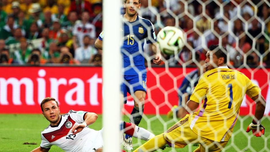 Weltmeisterschaft Tor Mario Götze