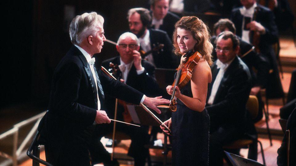 Herbert von Karajan und Anne-Sophie Mutter blieben bis zu seinem Tod ein Erfolgsduo