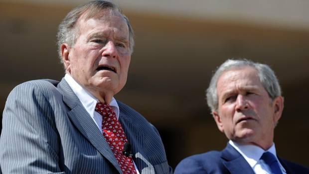 George H.W. Bush und George W. Bush haben Donald Trump nicht gewählt