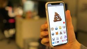Das Kot-Animoji auf einem iPhone X