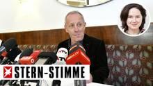 Peter Pilz bei einer Pressekonferenz in Wien