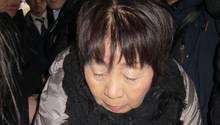 Chisako Kakehi - in Japan Schwarze Witwe genannt - nach ihrer Verurteilung zum Tode
