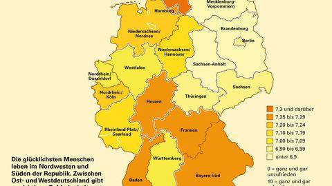 Die glücklichsten Deutschen leben in Schleswig-Holstein