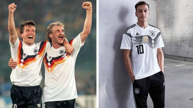 Die Trikots der deutschen Fußball-Nationalelf