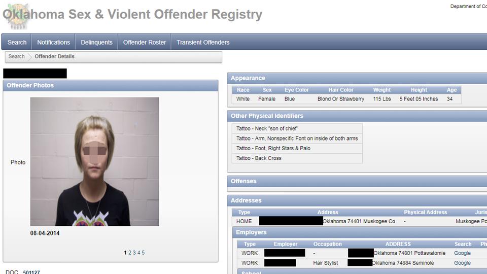 Sexualstraftäter-Register: Je nach Bundesstaat sind die online für jedermann einsehbaren Liste sehr detailliert