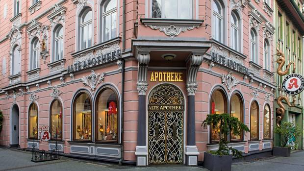 """Die """"Alte Apotheke"""" in Bottrop. Inzwischen wird sie nicht mehr von Peter S. geführt"""