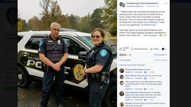 Facebook-Post des Hillsborough Police Department