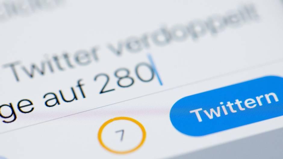 Twitter: Ein Tweet mit 280 Zeichen