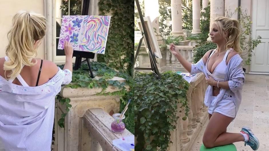 Überraschung: Britney Spears erntete Spott für ihr Blumen-Bild - doch verkauft es für 10.000 US-Dollar