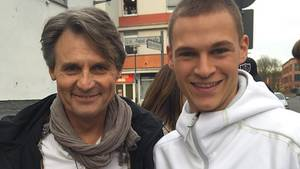 Joshua Kimmich (r.) und Wolfgang Baho