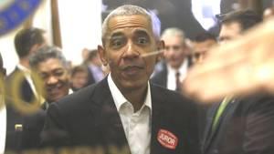 Ex-Präsident Barack Obama im Bezirksgericht im Daley Center in Chicago