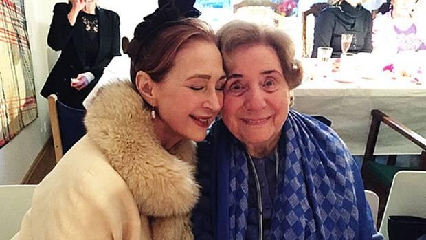 Ruth Meros und ihre Freundin, die Schauspielerin Christiane Kaufmann