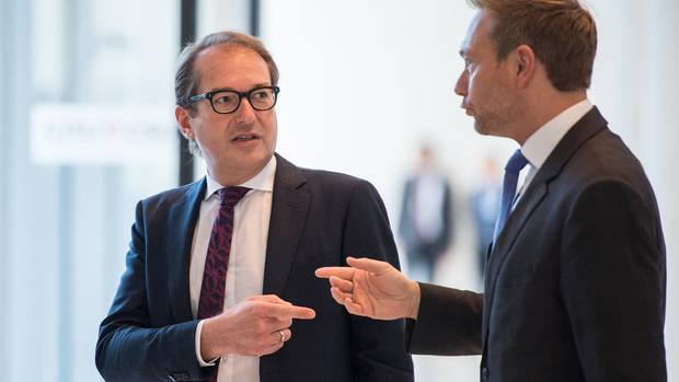 CSU-Landesgruppenchef Alexander Dobrindt (l.) und der FDP-Vorsitzende Christian Lindner