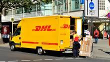 DHL-Fahrer in Berlin