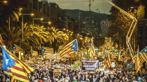 Großdemonstration in Barcelona