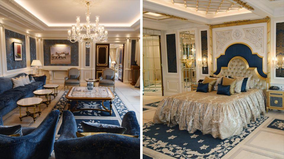 2000 Quadratmeter Prunk: Gold-Hähne am Alabaster-Bidet: So luxuriös ist die größte Hotelsuite Europas