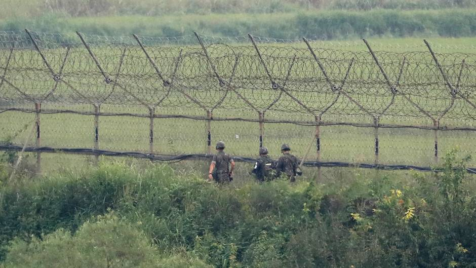Grenze zwischen Nordkorea und Südkorea