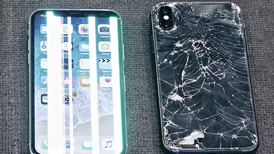 Nach einem Sturz sah das iPhone X nicht mehr gut aus
