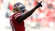 NFL-Star Marquise Goodwin jubelt