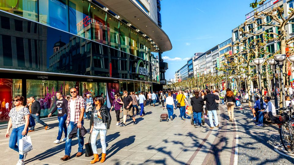 Einkaufsstraße in Frankfurt